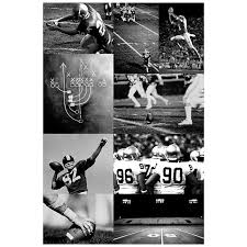 Pottery Barn To The Trade Football Collage Wall Mural Pbteen
