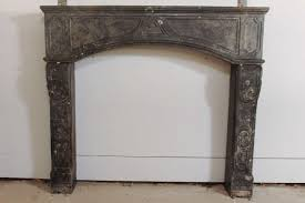 rare early 18th c french marbleized limestone fireplace mantel