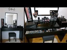 black vanity table ikea diy makeup table ikea malm vanity makeup table organization