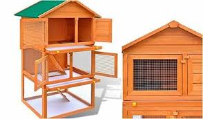 Rabbit Hutch Wood Outdoor Rabbit Cage Bunny Pet House Large Wood Hutch Wooden Animal