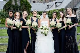 black bridesmaid dresses the crew all wore black bridesmaid dresses hailey baldwin s