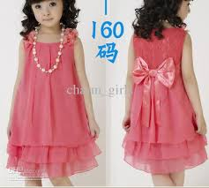 necklace with lace dress images Older children girl princess dress lace bow chiffon dress jpg