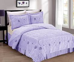 Fur Bed Set Ribbon Embroidered Short Faux Fur Bed Spreads Blissful Comforts