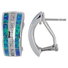 turquoise opal earrings sterling silver jewelry lab created opal earrings