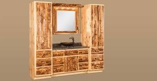 Bathroom Vanity Tower by Bathroom Dutchman Log Furniture