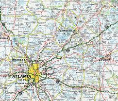 Lake Lanier Map Interstate Guide Interstate 985 Georgia
