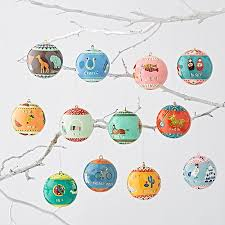 around the world ornaments set of 12 the land of nod