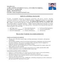 maintenance resume format resume for your job application