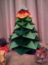 origami tree photo03482 make dollar bill