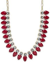 red stone gold necklace images Inc international concepts gold tone red stone collar necklace jpg