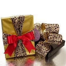 4 leopard print velvet wired ribbon