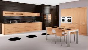 cuisine chene massif moderne cuisine contemporaine en bois massif en plaqué bois en bois
