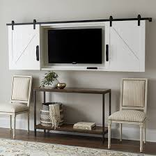 tv wall cabinet barn door tv wall cabinet ballard designs