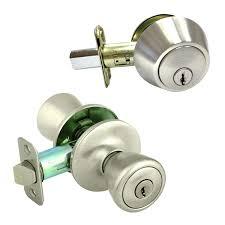 Entry Door Locksets Door Locks And Deadbolts Single Cylinder Interlocking Deadbolt