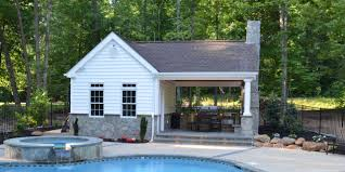kitchen fresh pool house with outdoor kitchen excellent home