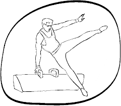 gymnastics coloring page pommel horse gymnastics coloring pages coloringstar
