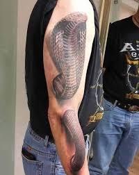 popular cobra tattoo on full arm goluputtar com