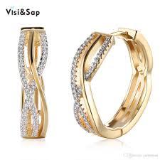 2018 visisap vintage hoop earrings for wedding earring