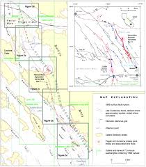 Map Of San Bernardino California Primary Surface Rupture Associated With The Mw 7 1 16 October 1999