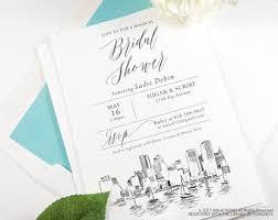 wedding invitations okc skyline wedding invitations save the date by magicwandweddings