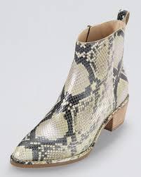 cole haan reilly short snakeprint boot natural lyst