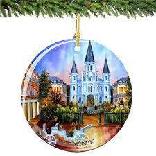 new orleans porcelain christmas ornament