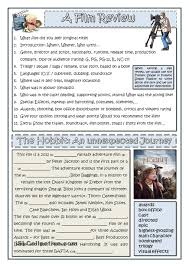 how to write a film review worksheet of the day on june 19 2015