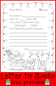 free letter to santa printable letter to santa kids writing and