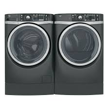 Front Load Washer With Pedestal Ge Energy Star 4 9 Doe Cu Ft Capacity Rightheight Design