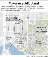 Link Light Rail Map Uw May Build Office Tower Atop U District Light Rail Station The