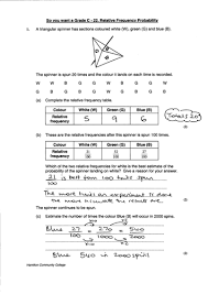gcse maths relative frequency worksheet by mrbuckton4maths