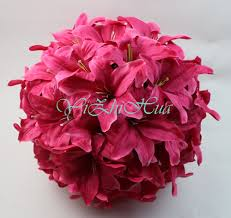 2017 new wedding decorations artificial lily silk flower ball