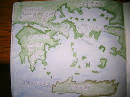 Ancient Map Of Greece by Waldorf 5th Grade Ancient Greece Map Main Lesson Book