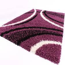 Schlafzimmer Teppich Rund Designer Teppich Festival Mit Konturenschnitt Muster Lila Schwarz
