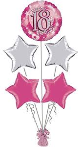 balloons for 18th birthday 18th birthday pink silver foil helium balloon display ideal for