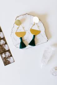 easy earrings jojotastic diy geometric tassel earrings