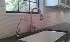 Contemporary Kitchen Backsplash by Kitchen Backsplash Wave Panel Tile Contemporary Kitchen