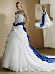 blue wedding white wedding dress with blue naf dresses