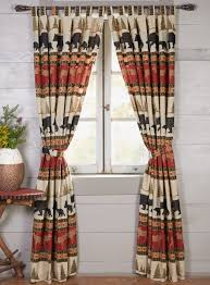 bedroom curtain rustic curtains cabin window treatments woodland