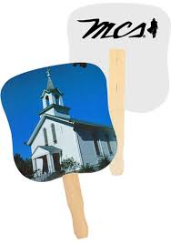 church fans personalized personalized white church fans ak33052 discountmugs