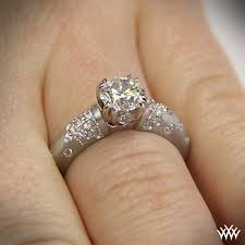 palladium engagement rings chagne u prong domed pave diamond engagement ring 3817