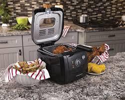 Hamilton Beach Cool Touch Toaster Hamilton Beach 35021 Deep Fryer With Cool Touch Black