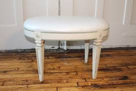 vintage thomasville french provincial stool vanity bench white