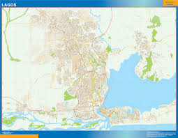 lagos city map nigeria city maps the wall maps wall maps of the world