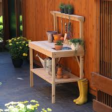 Outdoor Potting Bench With Sink Exterior Design Natural Potting Bench Design With Sink Support