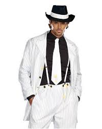 Mobster Halloween Costumes Free Shipping Sell Mens White Zoot Suit Gangster Mafia