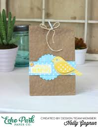 create your own unique embossed gift bags echo park paper