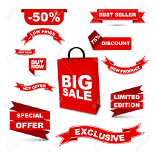 ribbons for sale this is vector set ribbons big sale hot offer special