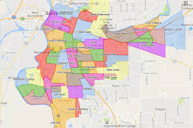 California Zip Code Map by Attendance Areas Sacramento City Unified District