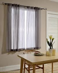 Sheer Gray Curtains by Mysky Home Back Tab And Rod Pocket Window Crushed Voile Sheer